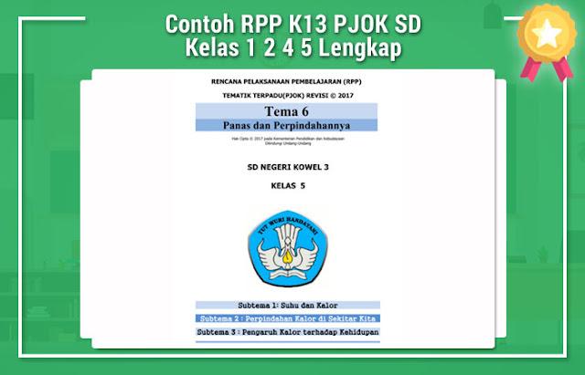 Contoh RPP K13 PJOK SD Kelas 1 2 4 5 Lengkap