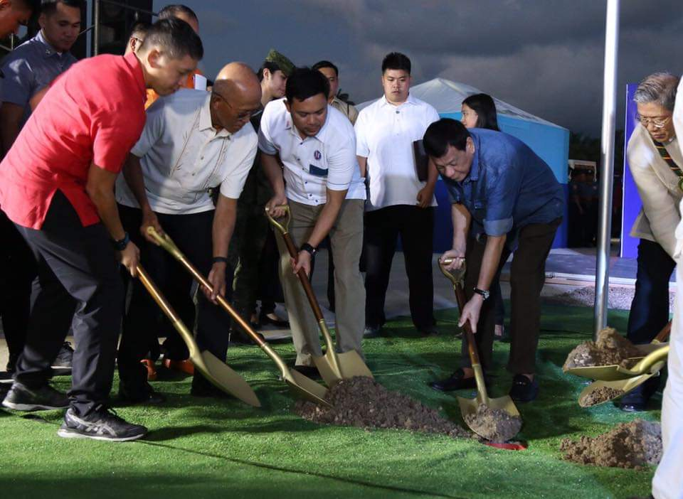 President Rodrigo Duterte led the groundbreaking for the Panguil Bay Bridge (PBB)