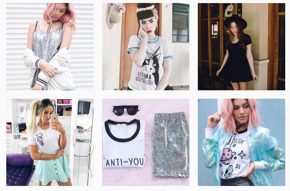 7919e0988 A loja contém produtos de todos os estilos, desde saias longas, midi, e até  mais curtinhas. Tem também camisetas vestidos, macaquinhos e vestidos super  ...