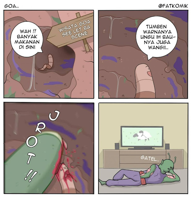 10 Meme Komik 'Kehidupan Cacing' yang Lucunya Sadis Abis