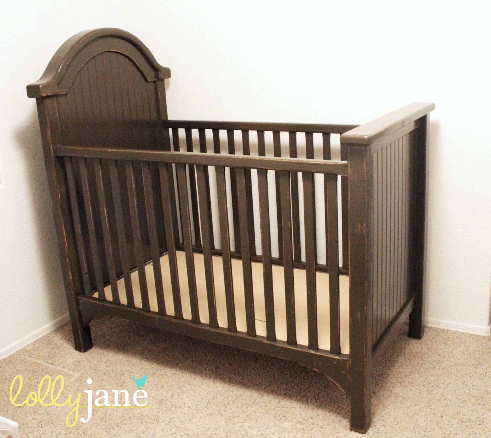 Distressed Crib Using Candle Wax Lolly Jane