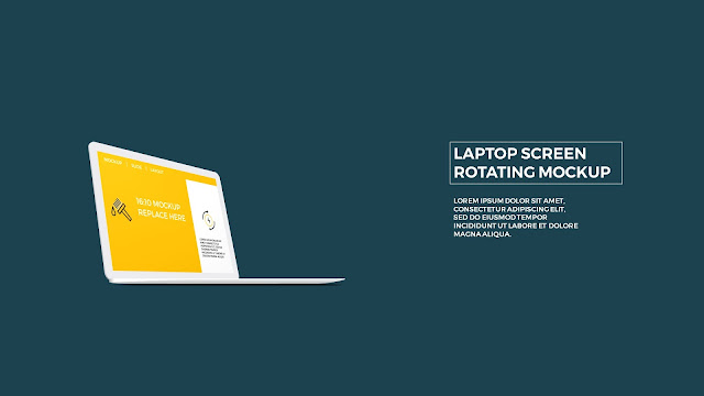 Free PowerPoint Template with Rotating Laptop Screen Mockup Slide 1