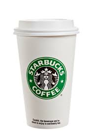 Starbuck's coffee cup