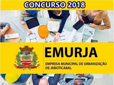 Processo Seletivo EMURJA de Jaboticabal SP 2018