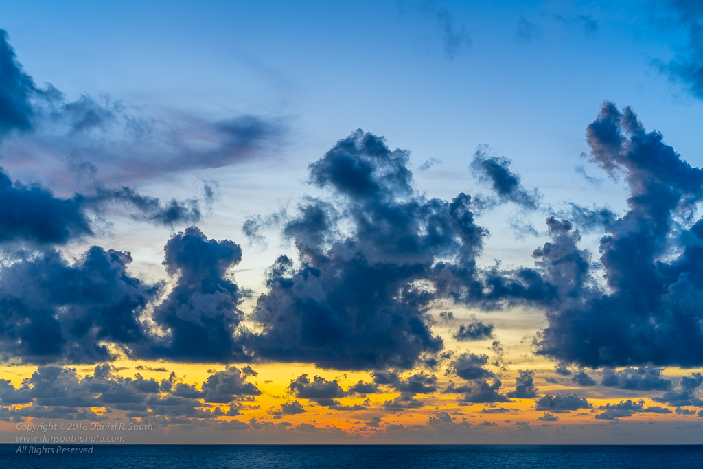 a photo of fading colors after sunset from the florida gulf coast
