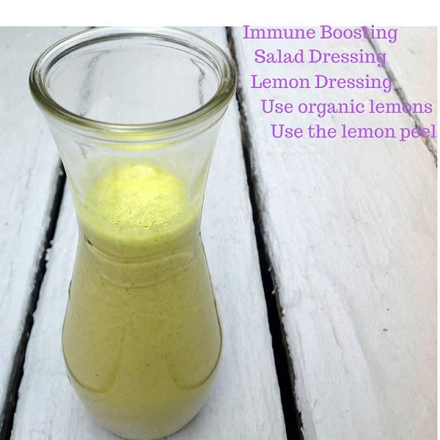 Homemade lemon salad dressing