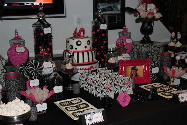 deco table anniversaire rose