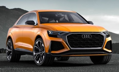 Audi Repaints Q8 Concept Krypton Orange, Makes It 476 -HP Twin-Turbo V-6 Hybrid Powertrain