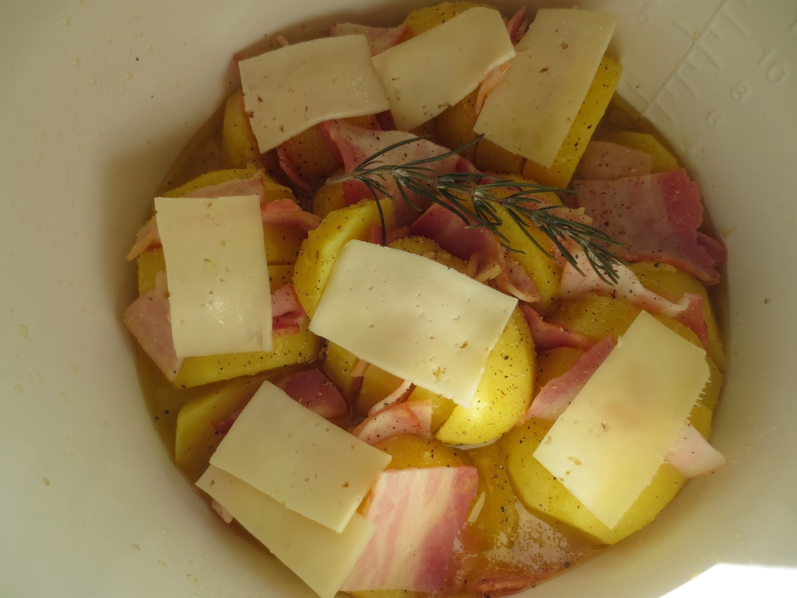 Patatas asadas en abanico olla GM