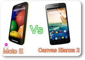 Motorola Moto E versus Micromax Canvas Elanza 2 Comparison Specs and Price