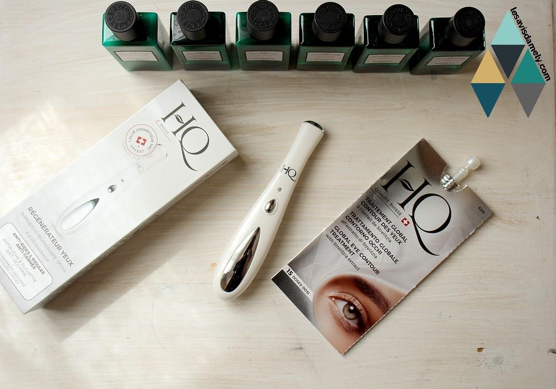 revue beauté régénérateur yeux anti poches anti cernes HQ cosmetiques