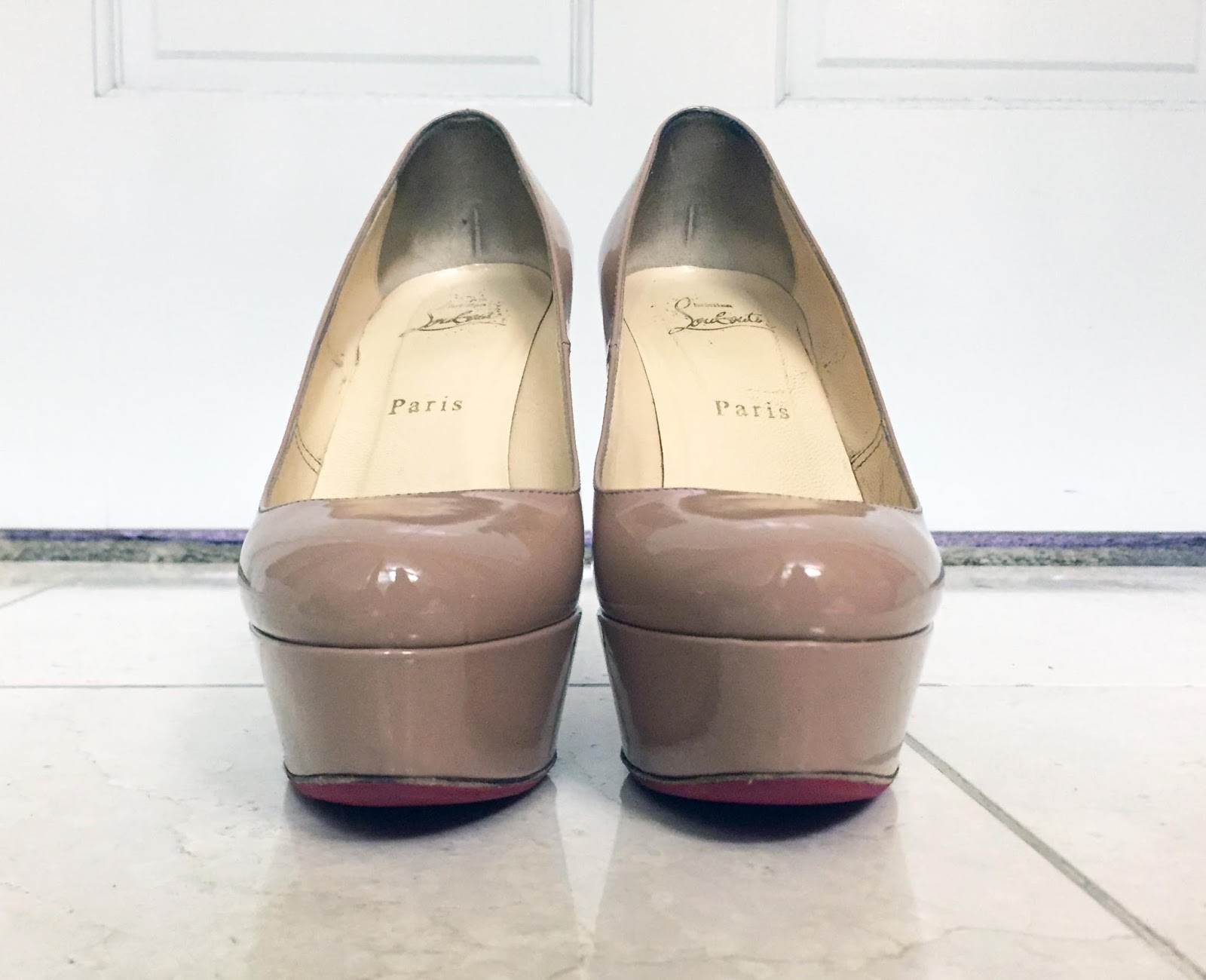 6aa2030ccc2 My Superficial Endeavors  Christian Louboutin Nude Bianca Pump!