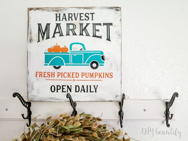 DIY fall sign