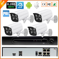 Kit CCTV 4CH Sistema de Vigilância Standalone