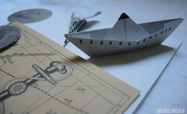 In Meinem Riesigen Papiervorrat Fand Ich Tatsächlich Ein Ideales Blatt,  Auch Das Dezente Braun Grau Fand Ich Für Einen Mann Passend.