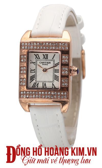 Đồng hồ nữ cartier mới dây trắng