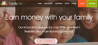 Familyclix PTC, Make Money Online