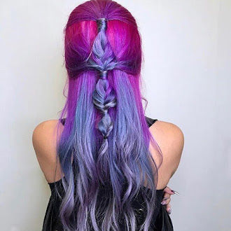 beauty, purple, lavender, hair, hairstyles, hair colors, hairstyles, hairspiration,