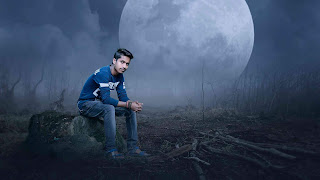big moon photo editing, night background with moon, moon background, picsart background,