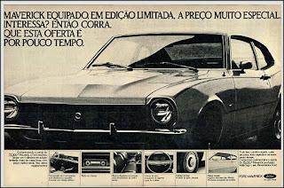 Propaganda  Ford Maverick - 4 cilindros 1976, Ford Willys anos 70, carro antigo Ford, década de 70, anos 70, Oswaldo Hernandez, Maverick 76,