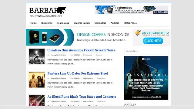 Barbar power blogger template