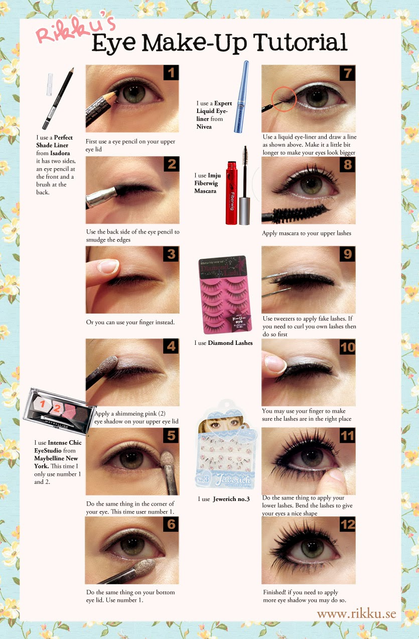 Eyeshadow Tut: Kawaiix2!: Gyaru Eye Make-up Tutorial