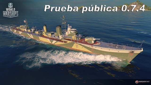 Prueba pública 0.7.4 de world of warships  round 1!