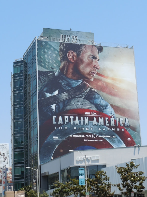 Chris Evans Captain America movie billboard