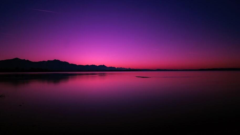 Sunset, Lake, Scenery, 4K, #6.949