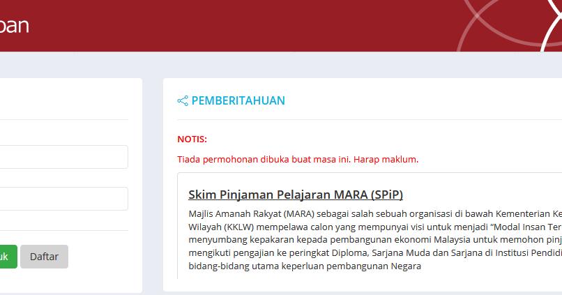 Permohonan Biasiswa Mara Lepasan Spm Dan Stpm Secara Online Pendidikanmalaysia Com