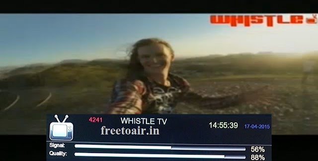 WhistleTV Newest Music Channel added on INSAT4A Satellite