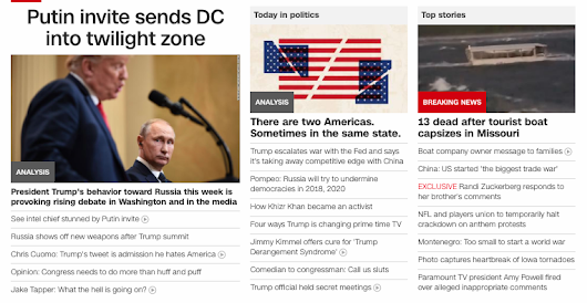 84 | CNN says Putin being invited to D.C. puts the city in The Twilight Zone, July 20, 2018