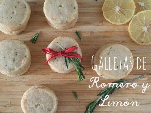 Receta Galletas de Romero y Limón | http://bizcochosysancochos.blogspot.com/