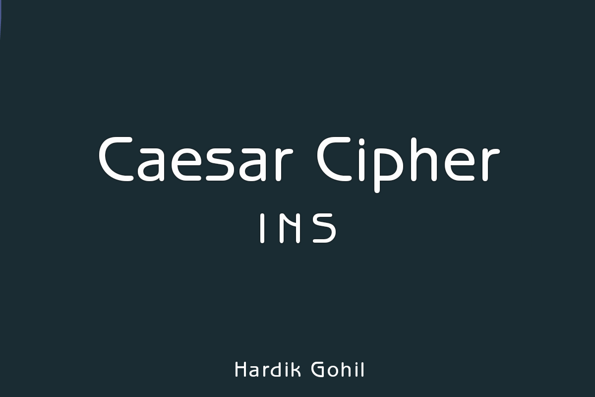 Implement Caesar Cipher Encryption-Decryption  - Code Jugaad