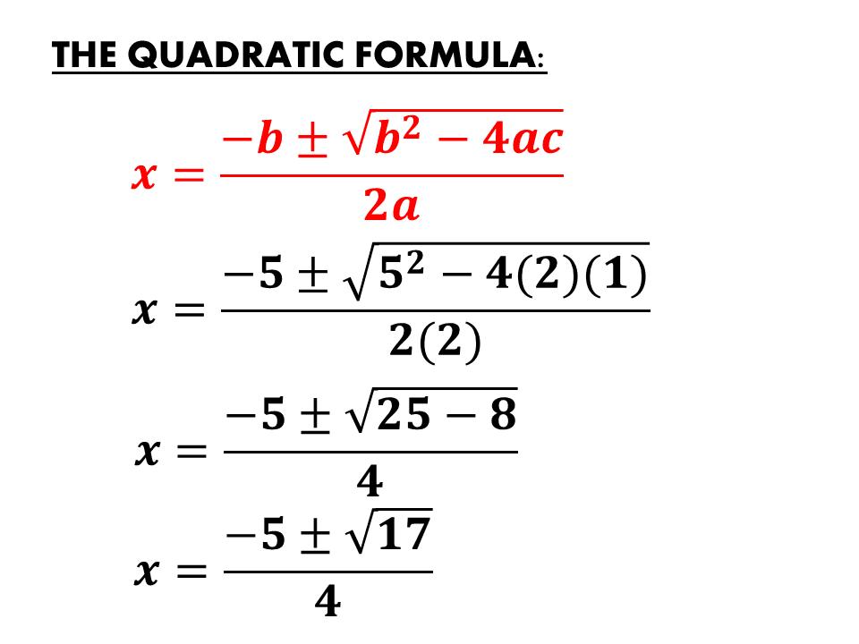 Quadratic Formula | IGCSE at Mathematics Realm  Quadratic Formu...