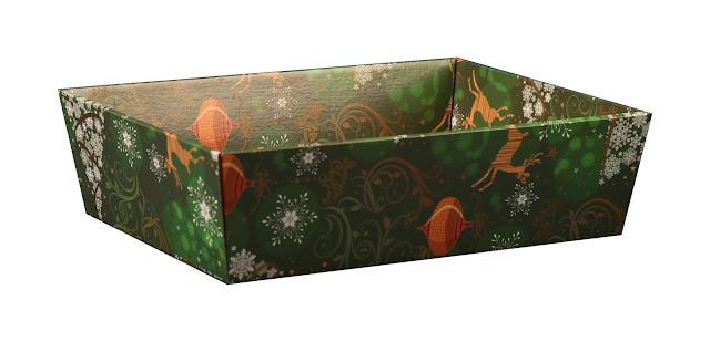 Kosze prezentowe świąteczne zestaw 1b