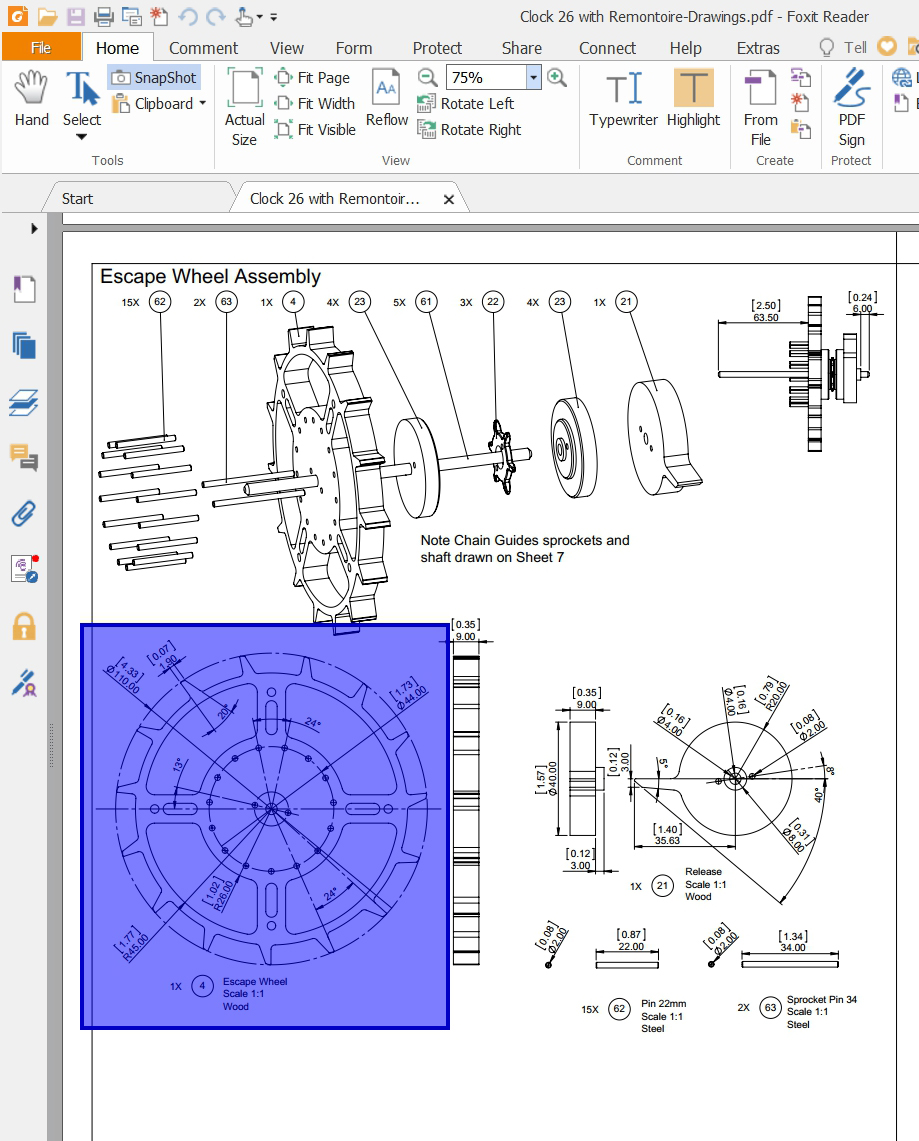 Wooden Clocks Printing Clock Plans Using Pdf And Dxf Files