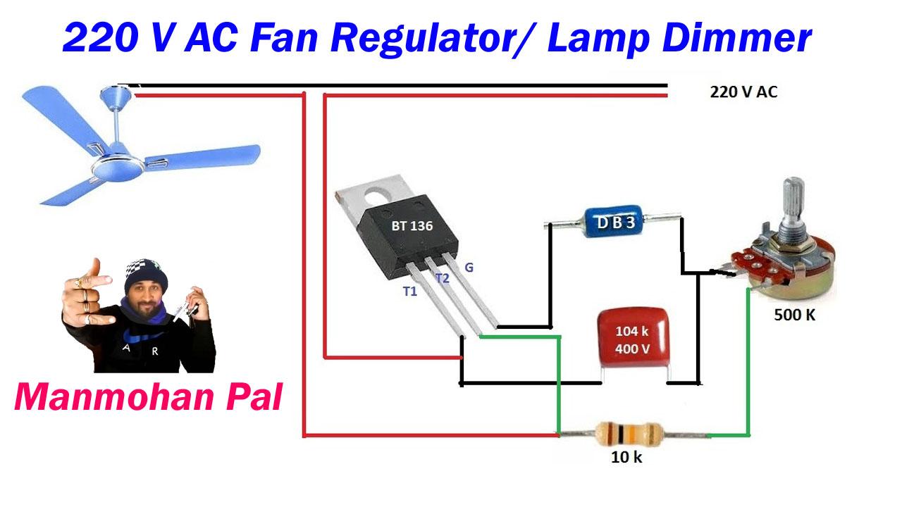Electronics By Manmohan Pal  220 Volt Ac Fan Regulator