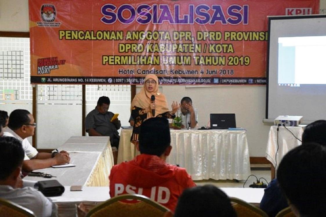 Pendaftaran Caleg Parpol ke KPU Kebumen Dibuka Awal Juli 2018