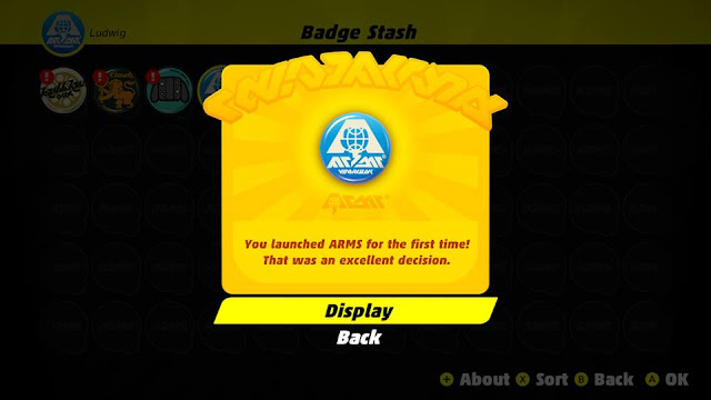 ARMS Badge Stash launched for the first time that was an excellent decision Nintendo Switch