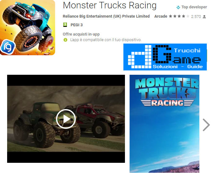 Trucchi Monster Trucks Racing Mod Apk Android v1.2.3