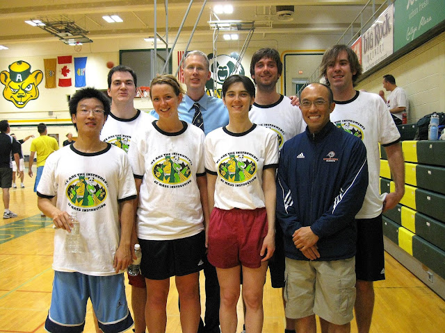 Members of the University of Alberta's Corporate Challenge Basketball Team