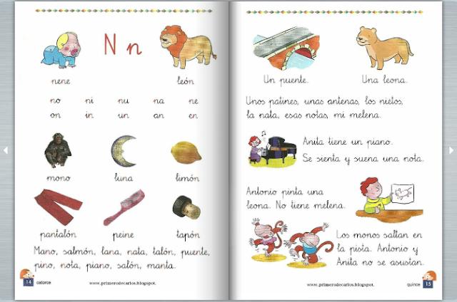 Cartilla De Lectura Infantil: APRENDER ES DIVERTIDO 1º Y 2º: Cartillas De Lectura