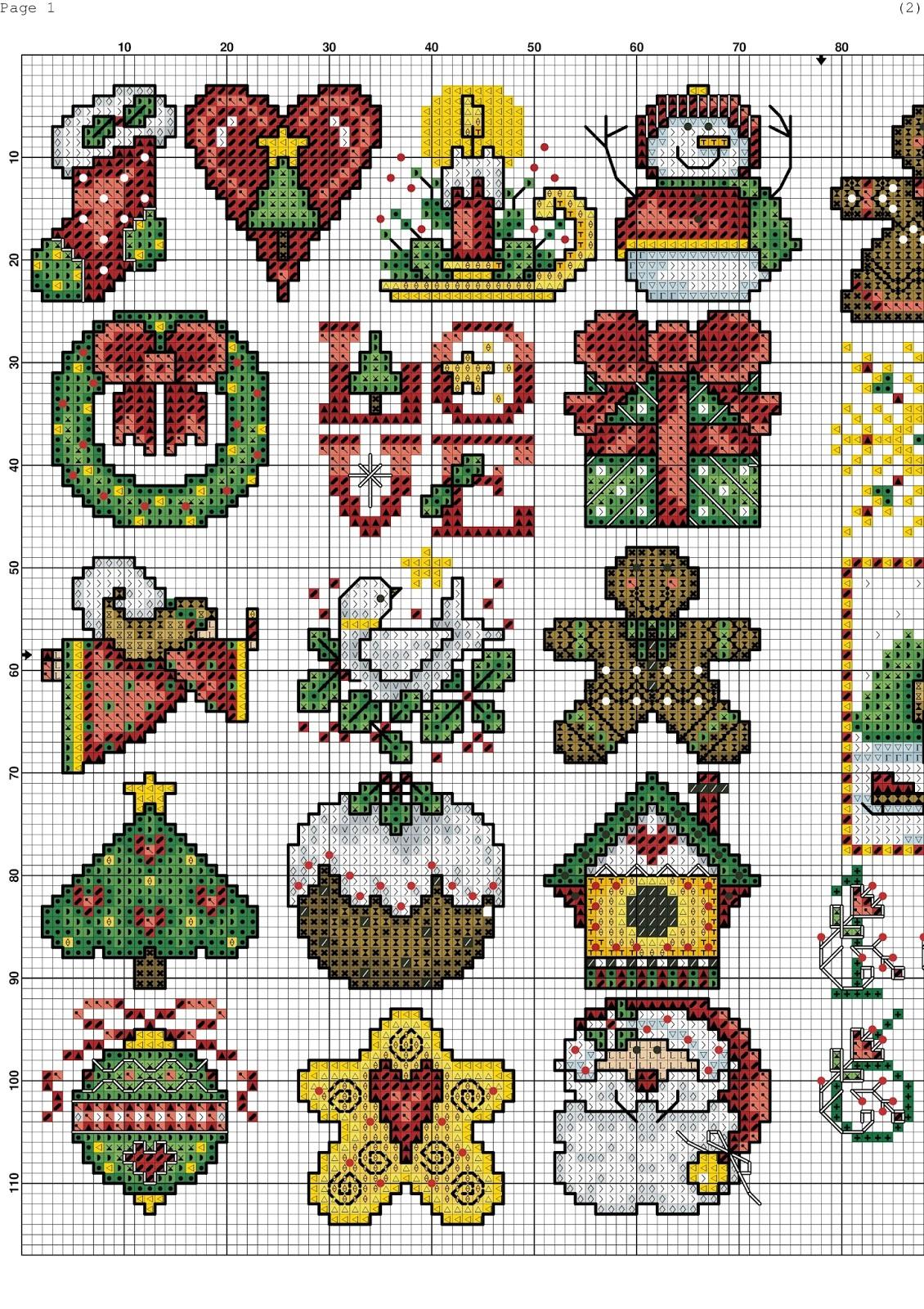 Piccolo Schemi Punto Croce Natale.Piccoli E Facili Schemi Per Natale A Punto Croce