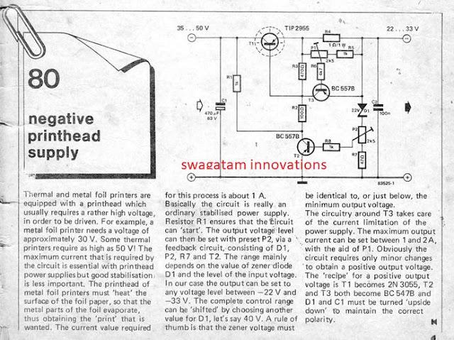 original power supply circuit design from elektor electronics