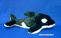 orca whale plush stuffed animal toy