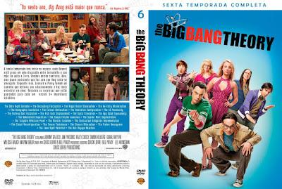 Série The Big Bang Theory 6º Temporada Completa DVD Capa