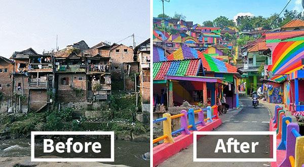 Kampung Jodipan Dulu dan Sekarang