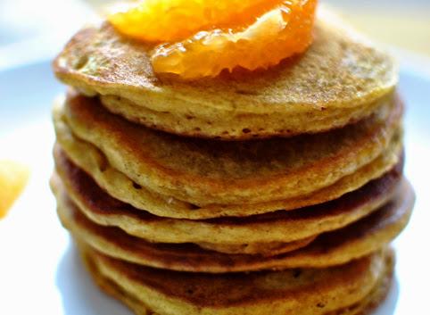 Dyniowe pancakes z pomarańczą