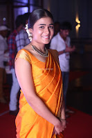Shalini Pandey in Beautiful Orange Saree Sleeveless Blouse Choli ~  Exclusive Celebrities Galleries 024.JPG